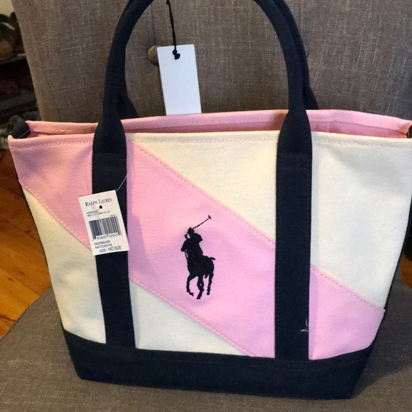 80538cb319f0 Ralph Lauren small canvas tote